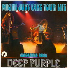 """DEEP PURPLE MIGHT JUST TAKE YOUR LIFE France 7"""" Vg/Vg+ hard rock metal"""
