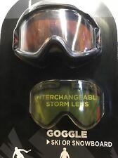 28636e5c692 Bolle Ski   Snowboard Goggles Interchangeable Yellow Storm Lens   Storage  Bag