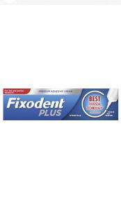 Fixodent Plus Food Seal Denture Adhesive Cream 40g For Full & Partial Dentures.