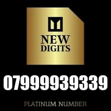 GOLD VIP DIAMOND UNIQUE UK BUSINESS MOBILE PHONE NUMBER SIM CARD