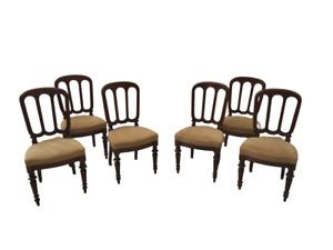 Gruppo di sei sedie milanesi umbertine in noce - fine 800 - buone condizioni