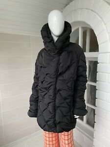 "Women's Moncler ""Providence"" Black Quilted Puffer Down Jacket Size 5 XL"