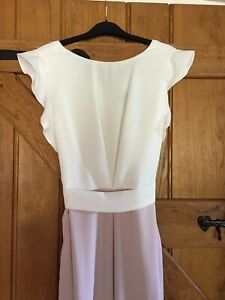 Beautiful *Phase 8 Jump-suit * Taupe And Cream Crepe Size 12