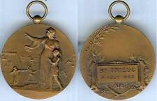 Gymnastique - SAINT BRIEUC 1922  concours de gymanstique C. CHARLES d=40mm
