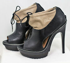 kurt geiger cleated platform, peeptoe bag ankle boots/heels UK8 (Euro41)