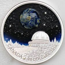Canada 2016 $20 The Universe 1 oz Pure Silver Luminescent Borosilicate Glass