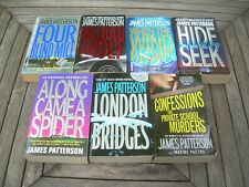 7 James Patterson Pb Lot London Mice Private Hide & Seek Spider Wind Wolf