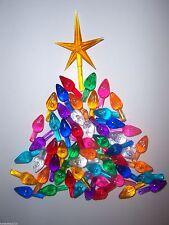 54 MEDIUM TWIST BULBS 9 COLORS GOLD STAR Vintage Ceramic Christmas Tree Lights