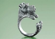 Miniature Schnauzer Ring Adjustable Dog and Puppy Lovers Fashion Jewelry AR-40