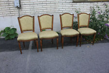 Set of Four French Provincial, Country French Newly Upholstered Side Chairs