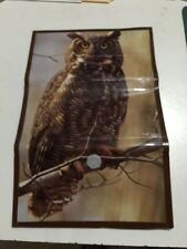 Hand Crafted Custom OWL Duct Tape Clutch Women Wallet Free Shipping