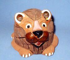 Vintage Hand Made Lion Clay Figurine Vgc