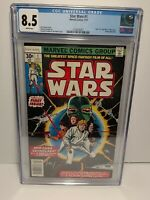 Star Wars #1 CGC 8.5 White Pages Many 1st Appearances  Newstand 1st Print 1977