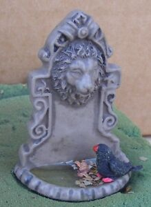 1:12 Scale Non Working Lion Head Fountain With A Bird & Water Tumdee Dolls House