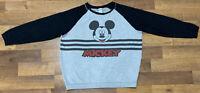 Disney Mickey Mouse Crewneck Sweatshirt Gray Black Youth XL Fits Women's M/L EUC