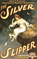VINTAGE THE SILVER SLIPPER THEATRE ADVERTISING A2 POSTER PRINT