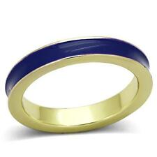Gold Royal Blue Enamel Eternity Ring Band Size 11 Plated Stackable Plus Size