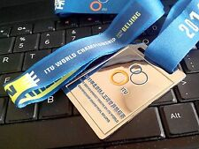 2011 BEIJING TRIATHLON ITU WORLD CHAMPIONSHIP GRAND FINAL FINISHER MEDAL