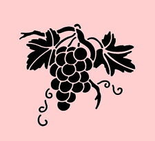 GRAPES STENCIL FRUIT TEMPLATES LEAF TEMPLATE PAINT STENCILS NEW BY STENSOURCE