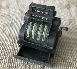 Dollhouse Antique Style Cash Register Opening Drawer for Doll House Store 1212