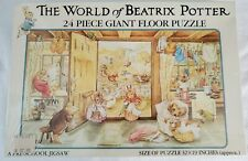 """The World of Beatrix Potter 32"""" x 19"""" 24 Piece Giant Floor Puzzle in Sealed Box"""