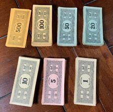 Antique Vintage MONOPOLY Game Parts - 1935 Marked Money