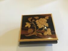 Sorrento Music Box Made In Italy Inlaid Wood Swiss Muscial Movement - Greenslee