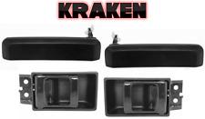 Kraken Inside And Outside Door Handles Fits Nissan Truck 87-97 Set Of 4 Black
