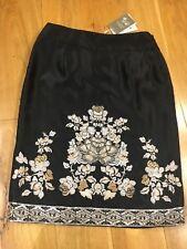Monsoon Ladies Beaded lined black skirt size 10 brand new