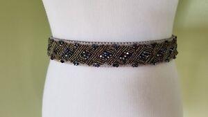 Inc International Concepts women's stretch beaded waist belt S/M M/L L/XL