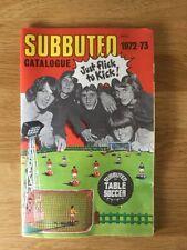SUBBUTEO CATALOGO 1972-73 - Calcio balilla Calcio. PLUS listino prezzi con squadre.