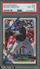 2018 Bowman #75 Miguel Andujar New York Yankees PSA 8 NM-MT