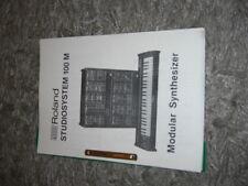 Manuali, istruzioni, System 100m Roland, tedesco inglese U.