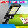 300W LED Solar Street Wall Light PIR Motion Sensor Outdoor Lamp & Control Remote