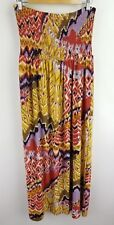 Mlle Gabrielle Womens Dress Maxi Multicolored Printed Strapless Flowy Size XL