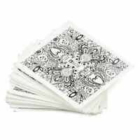 24Sheets Nail Art Lace Floral Stickers Set DIY Water Transfer Stamp Decals Tips~