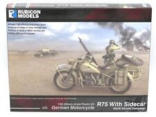 Rubicon 280052 WWII German Motorcycle R75 with Sidecar North African (DAK)