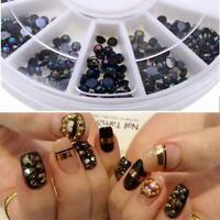 2000x Round AB Crystal 2mm 3D Nail Art Gems Rhinestone Diamante Diamonds s N4V0