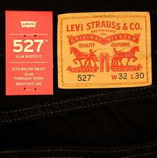 Levis 527 Jeans Mens New Slim Boot Cut BLACK Size 32 x 30 Levi's NWT #542