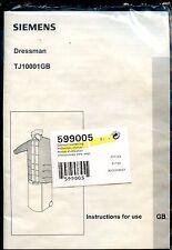 Siemens dressman TJ10001GB manual de instrucciones