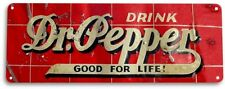 "TIN SIGN ""Dr Pepper"" Metal Decor Wall Art  Cola Store Shop Cave A341 #"