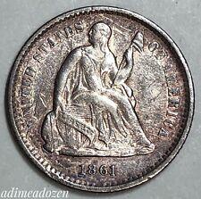 1861 H10C Liberty Seated Half Dime ZE4298MU