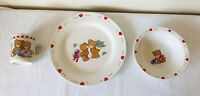 Studio Nova BEARY LOVE Dishes Set Valentine's Day Plate Bowl Mug Cup Bear Hearts