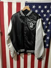 Vintage Chalk Line Raiders Satin Jacket Size L, Vintage Oakland Raiders NFL Gear