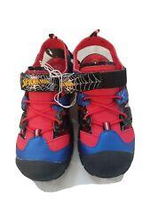 Boys Marvel Spider-Man Sandals Hook Loop Light Up Size 13 New