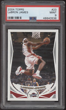 2004-05 Topps #23 Lebron James Cavs Lakers 2nd Year PSA 9 Mint