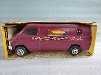 Ertl Baja Leisure Custom Van Pressed Steel Desert Travel Camper 3511 Plum 1970's