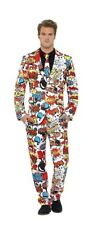 🆕️Adult Funny Comic Strip Stand Out Suit Mens Fancy Dress Stag Party Costume XL