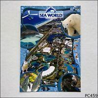 Sea World Gold Coast Australia Aerial View Collage Postcard (P459)