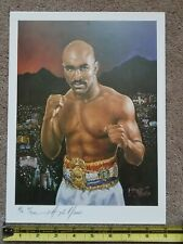 """Vintage 1997 Evander Holyfield 9"""" x 12"""" Limited Edition Numbered Boxing Print"""